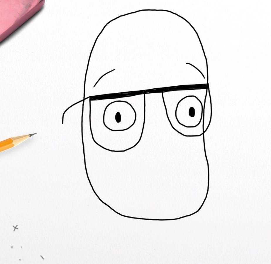 Harry Hill has eyebrows