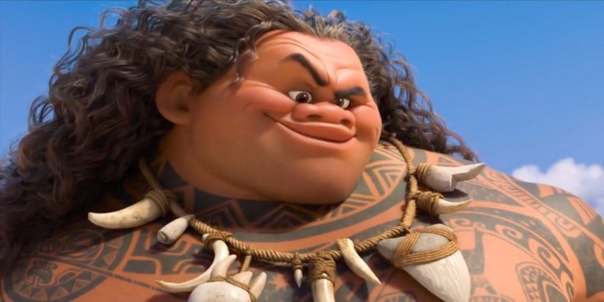 The Rock's character in Moana