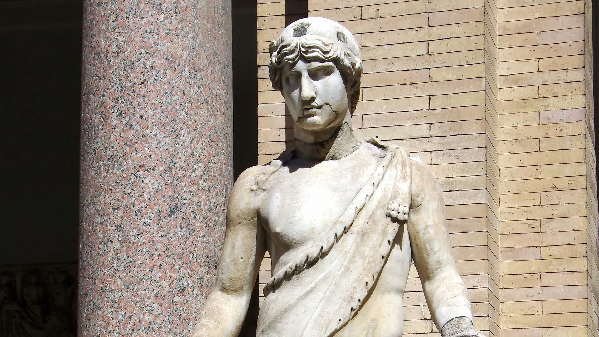 A statue of Adonis