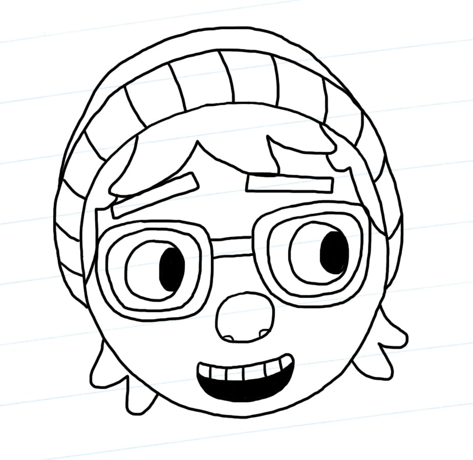 Pieface outline