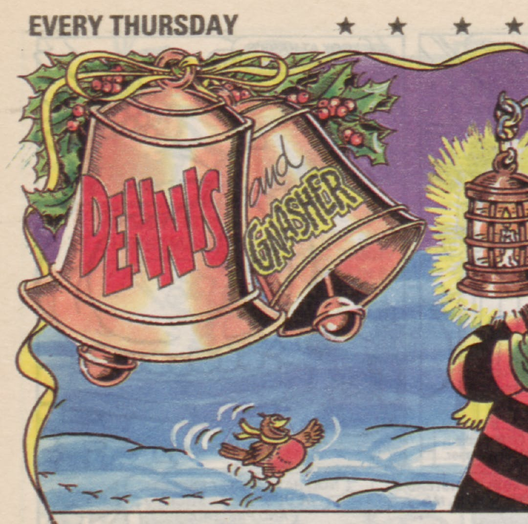 Dennis and Gnasher Christmas 1989