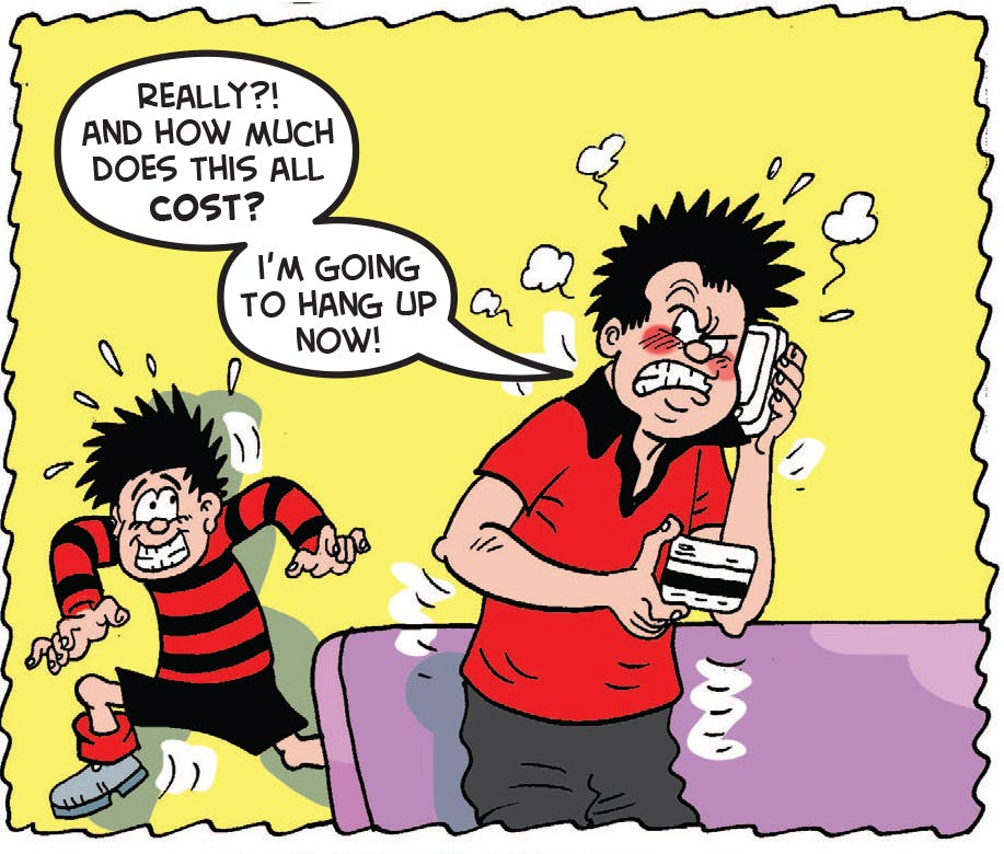 Dennis the Menace Father's Day, Beano