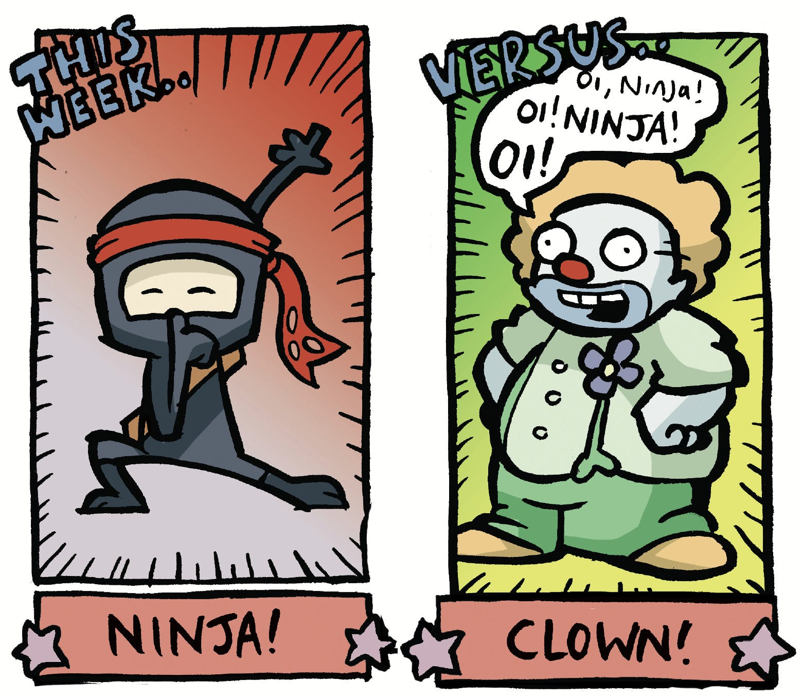 Arena of Awesome - Ninja vs. Clown, Beano, Jamie Smart
