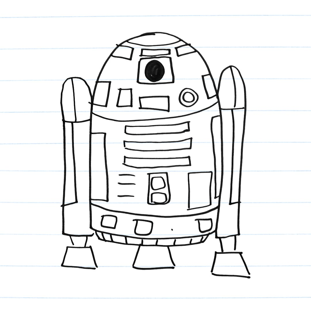 Drawing of R2-D2