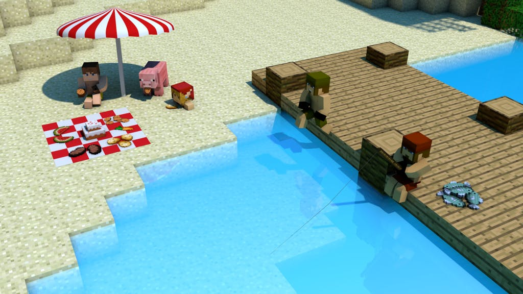 Minecraft Beach Party