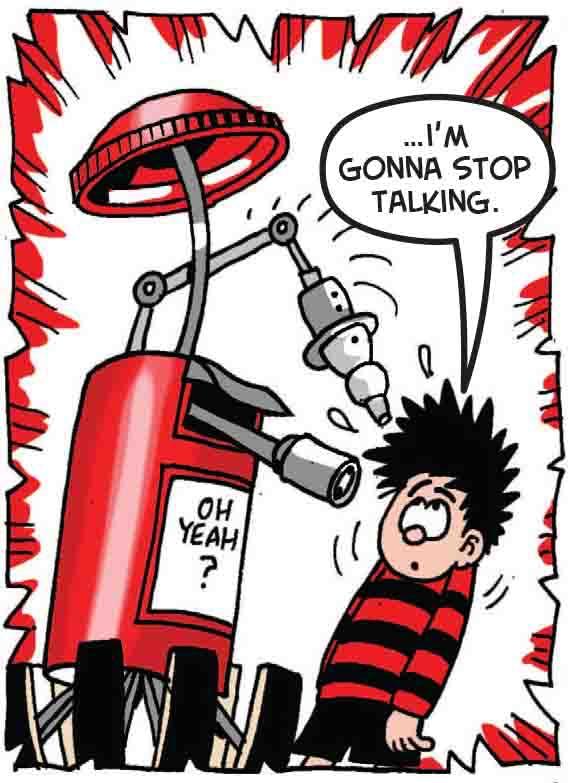 The postbox silences Dennis
