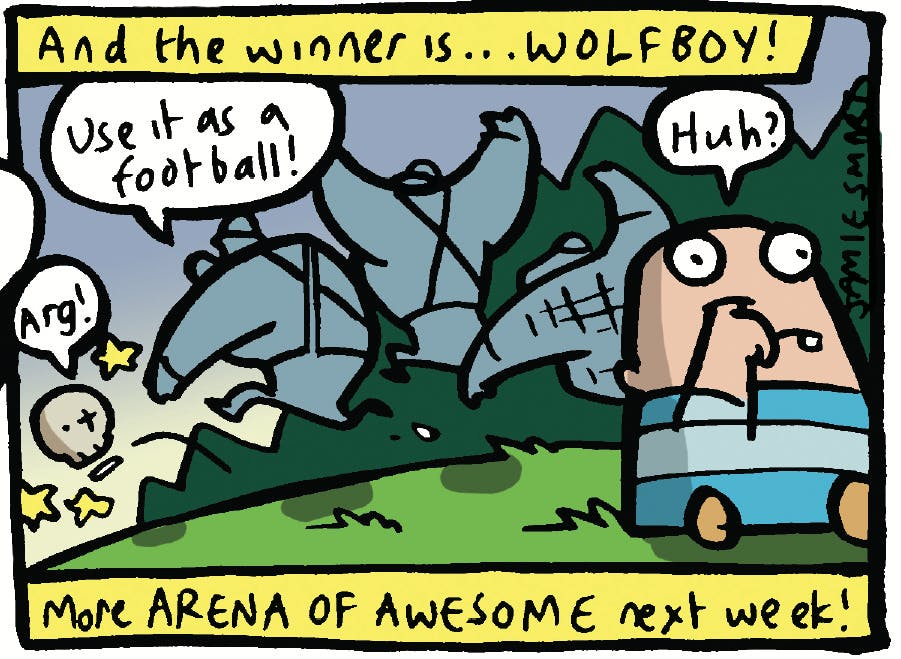 Arena of Awesome - Wolfboy vs. Skeleton, Beano, Jamie Smart