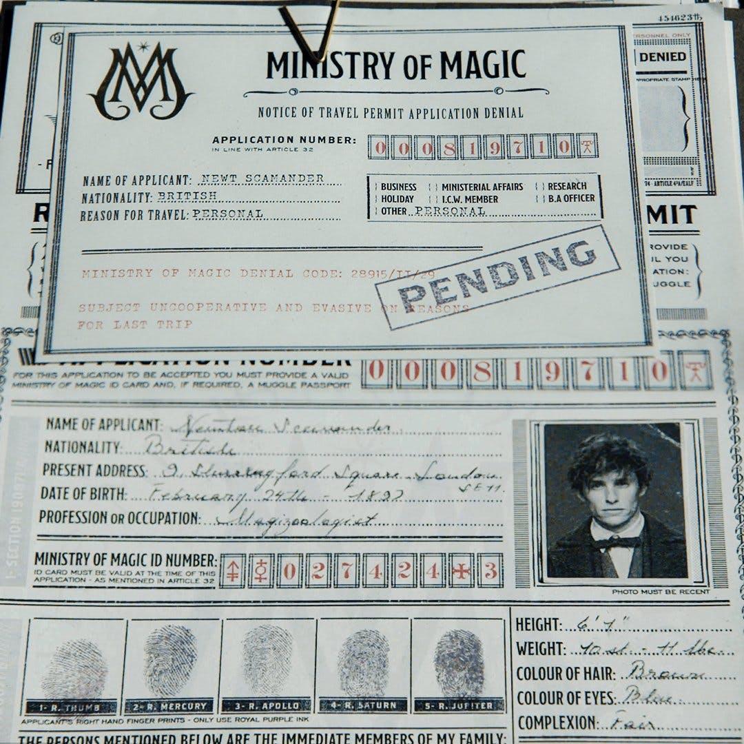 Newt's visa