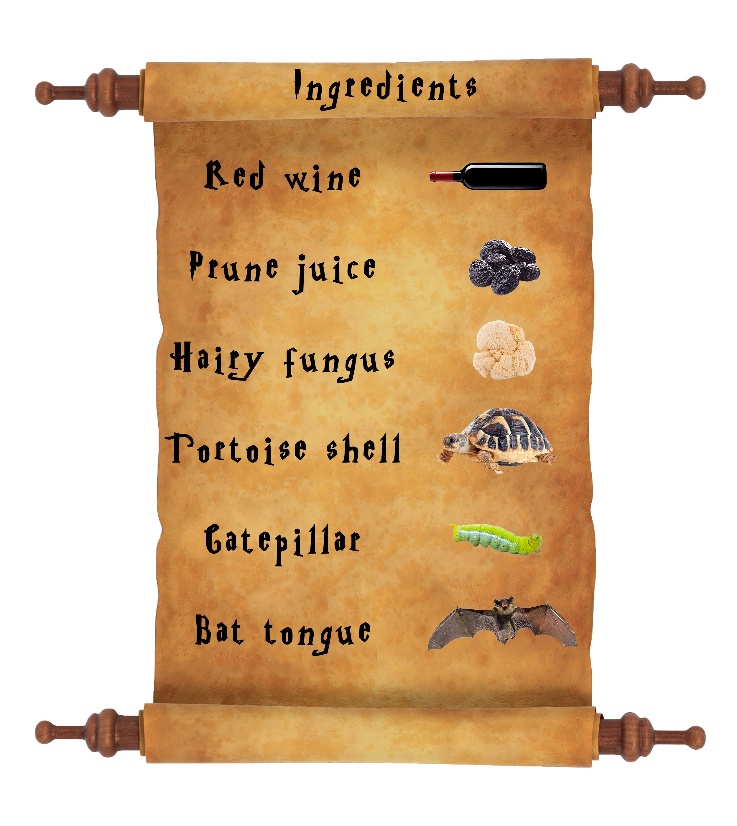 Harry Potter potion list - ageing potion ingredients