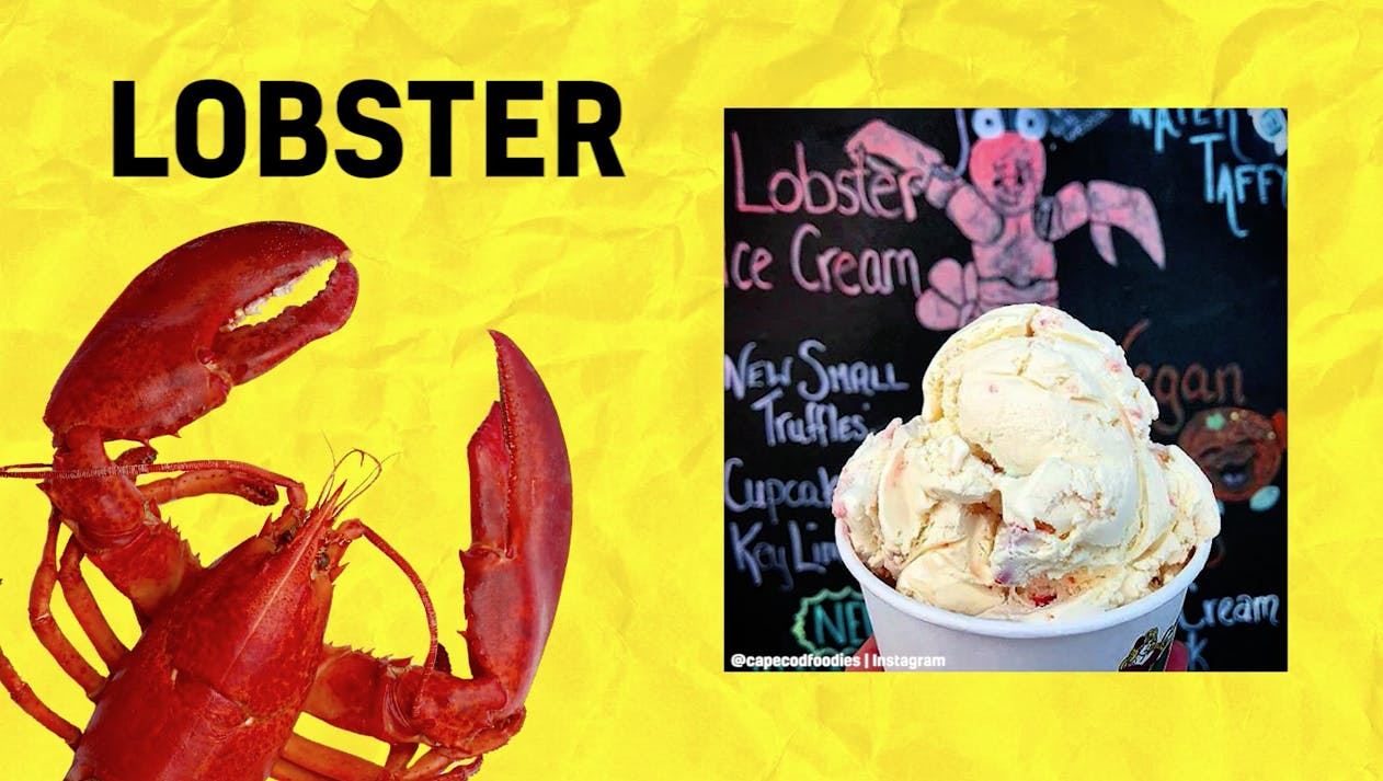 Lobster-flavoured ice cream