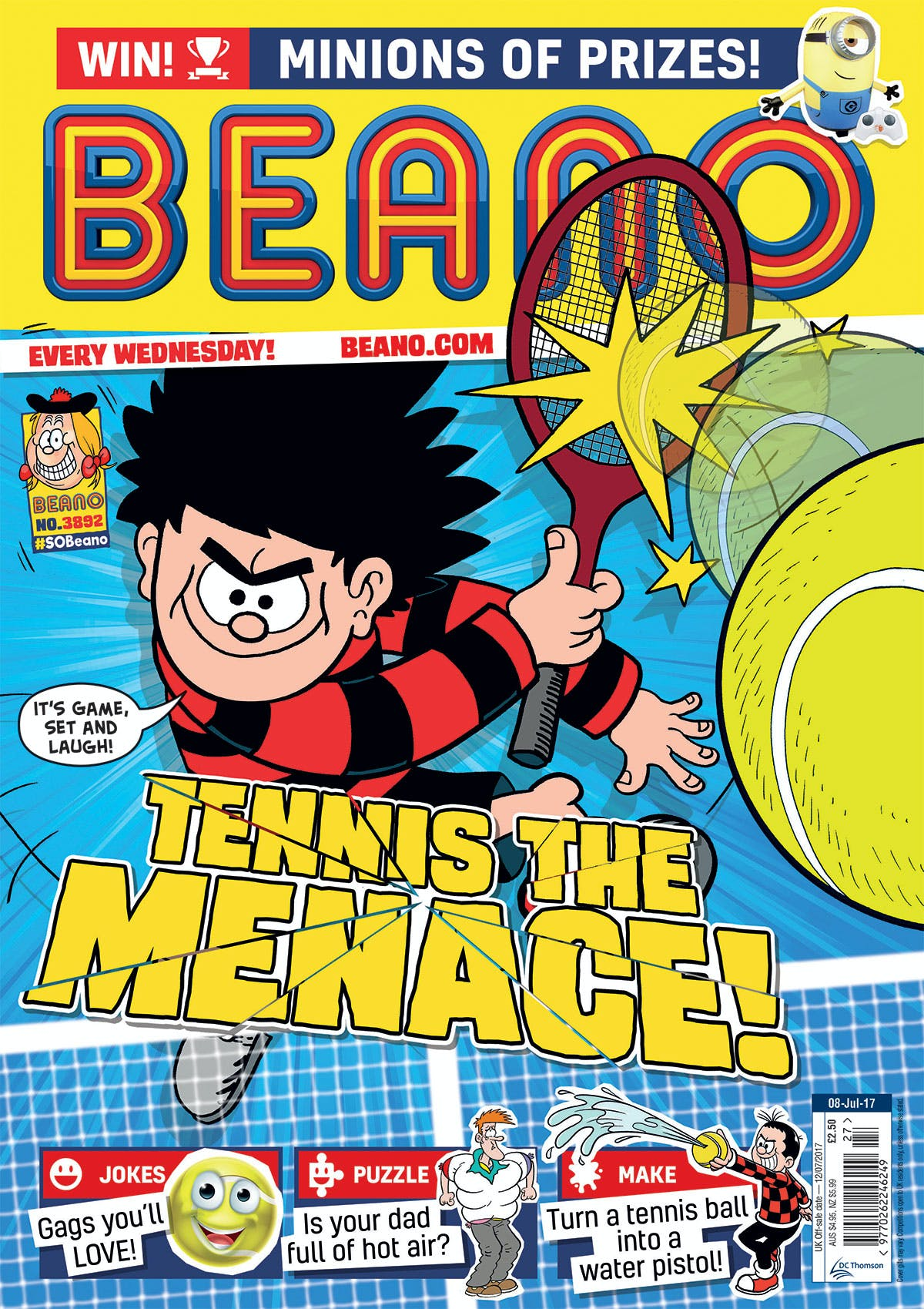 Beano No. 3895, July 8th 2017 Tennis the Menace