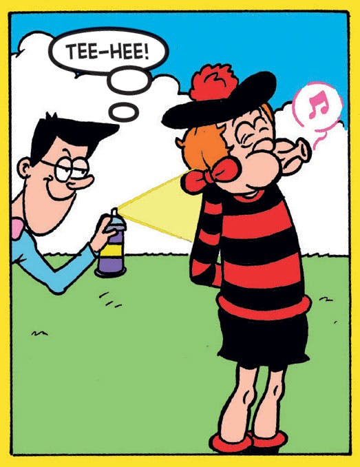 Walter pranks Minnie the Minx, Beano 3890