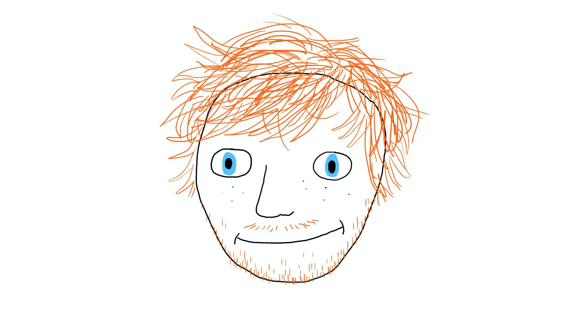 Ed Sheeran drawing with hair