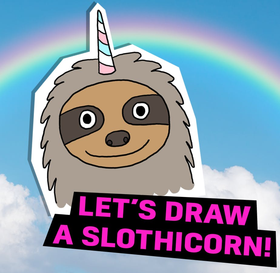 Let's draw a slothicorn