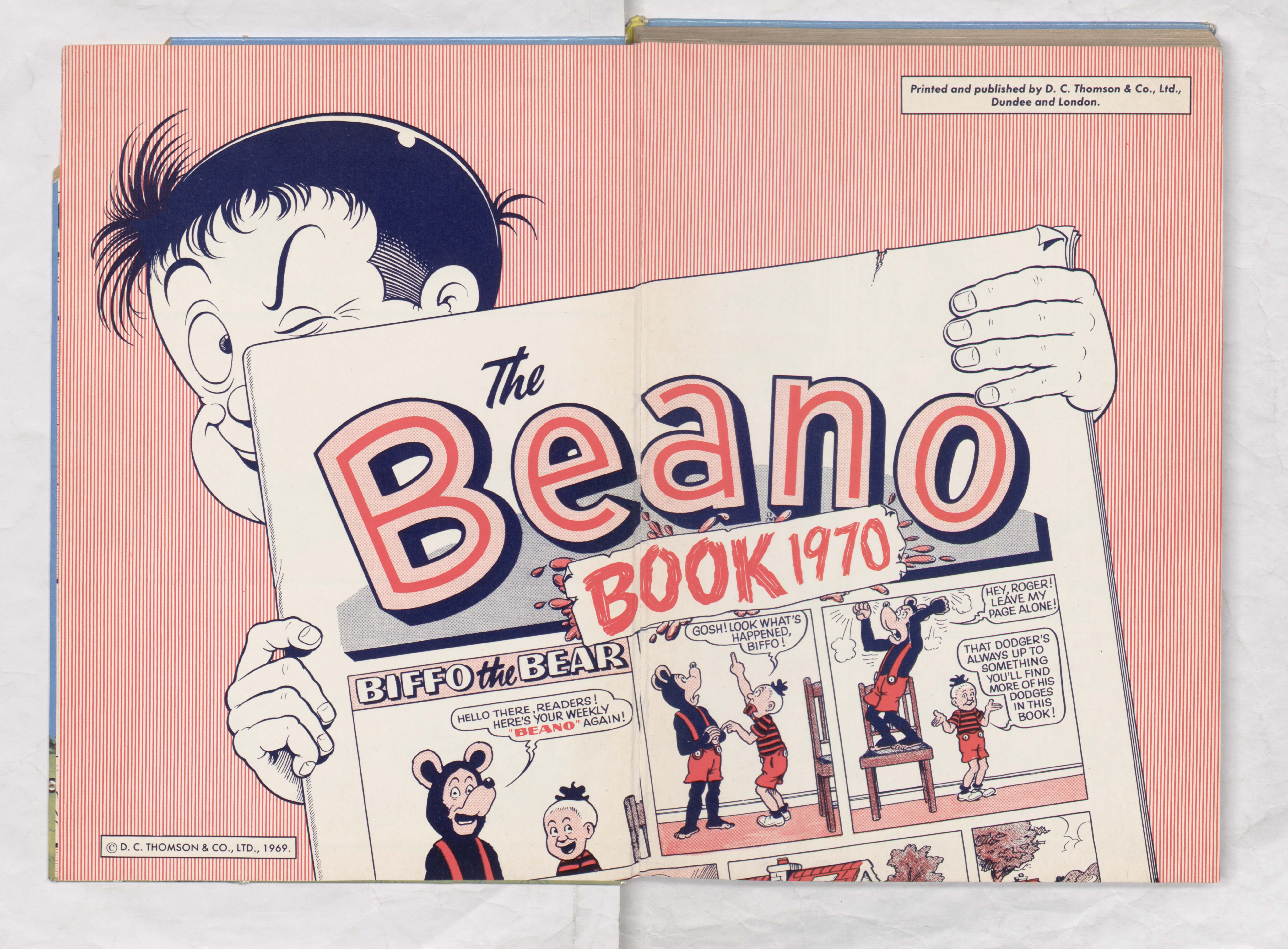 Beano Book 1970 - Welcome Page