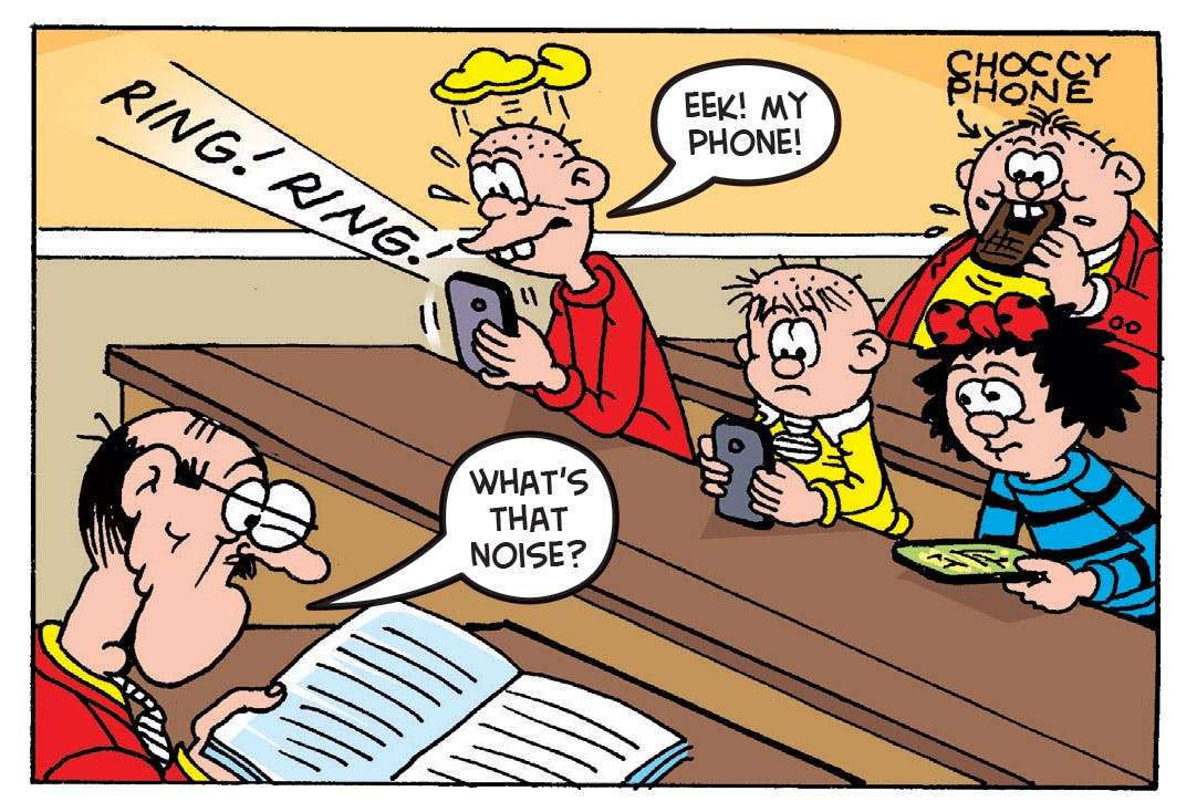 The Bash Street Kids from Beano send messages
