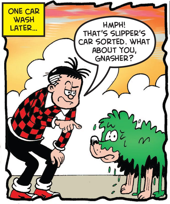 Roger talks to the Gnasher