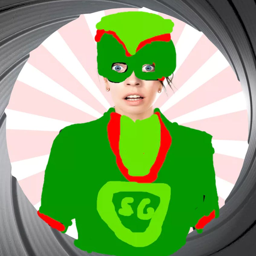 A secret agent disguised as a green super hero