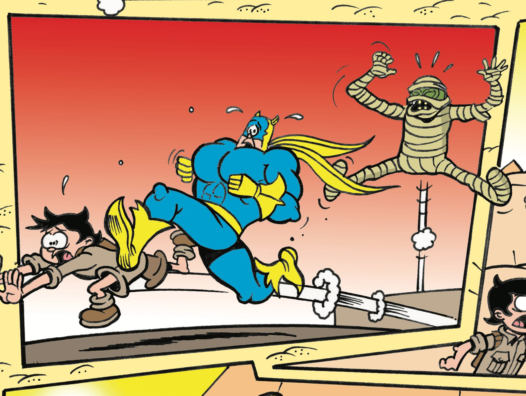 Bananaman and Eric meet the mummy