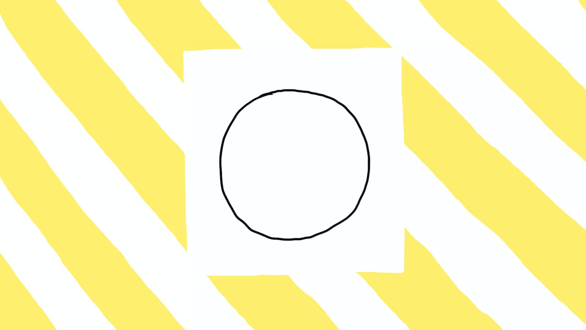 Start with a big circle