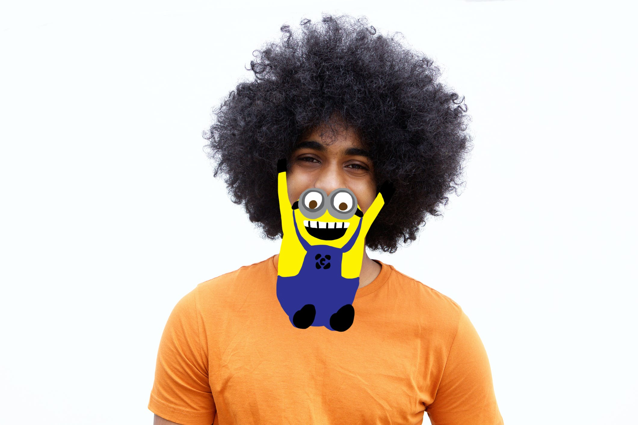 Dude with a minion as a beard
