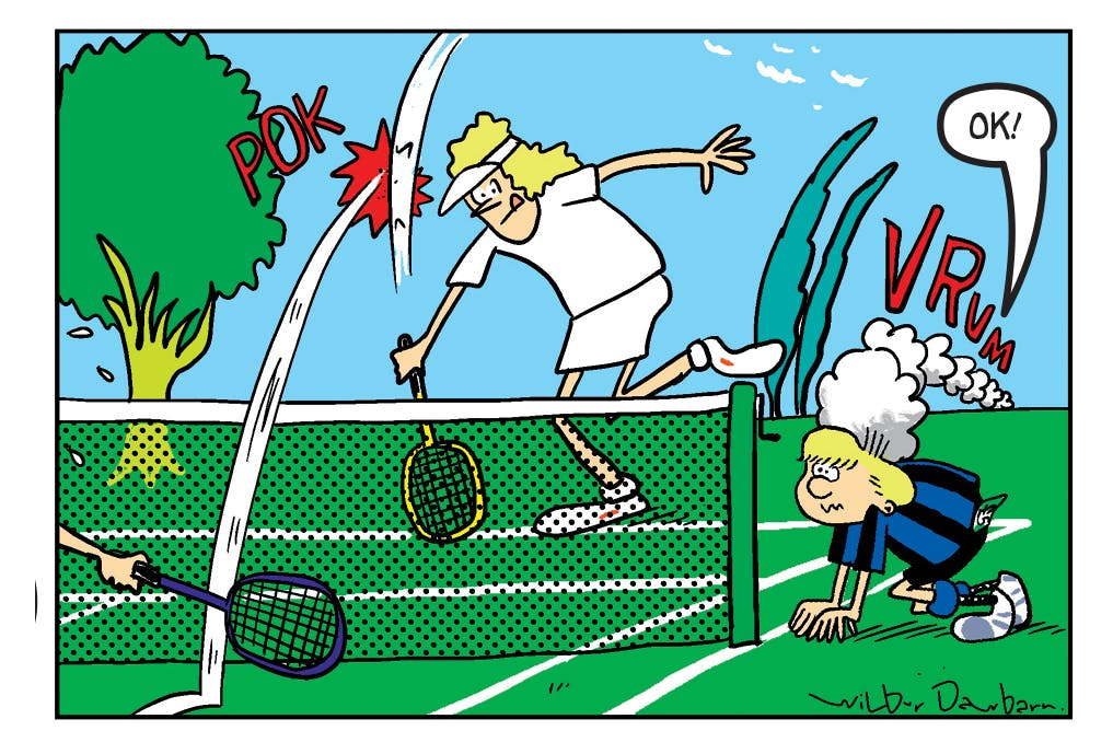 Billy Whizz as a tennis ball boy? It wouldn't happen at Wimbledon...