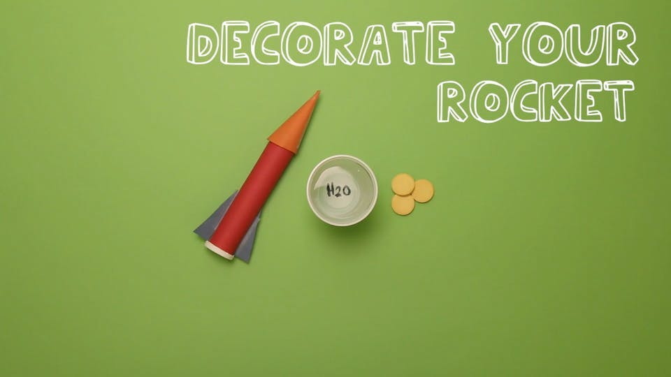 Decorate your rocket any way you want.