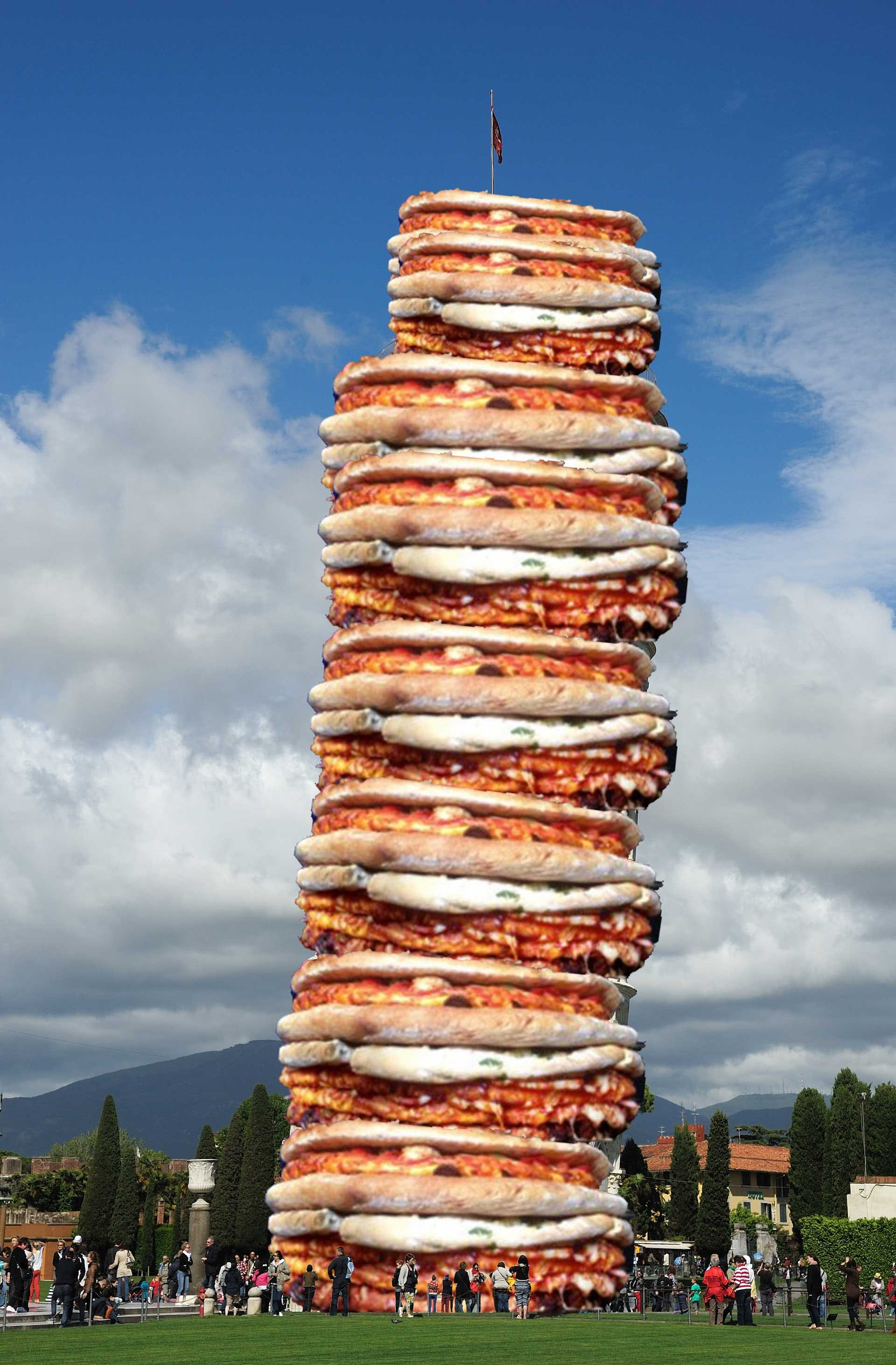 The Leaning Tower of Pizza