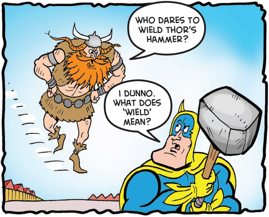 Thor comes down from Valhalla