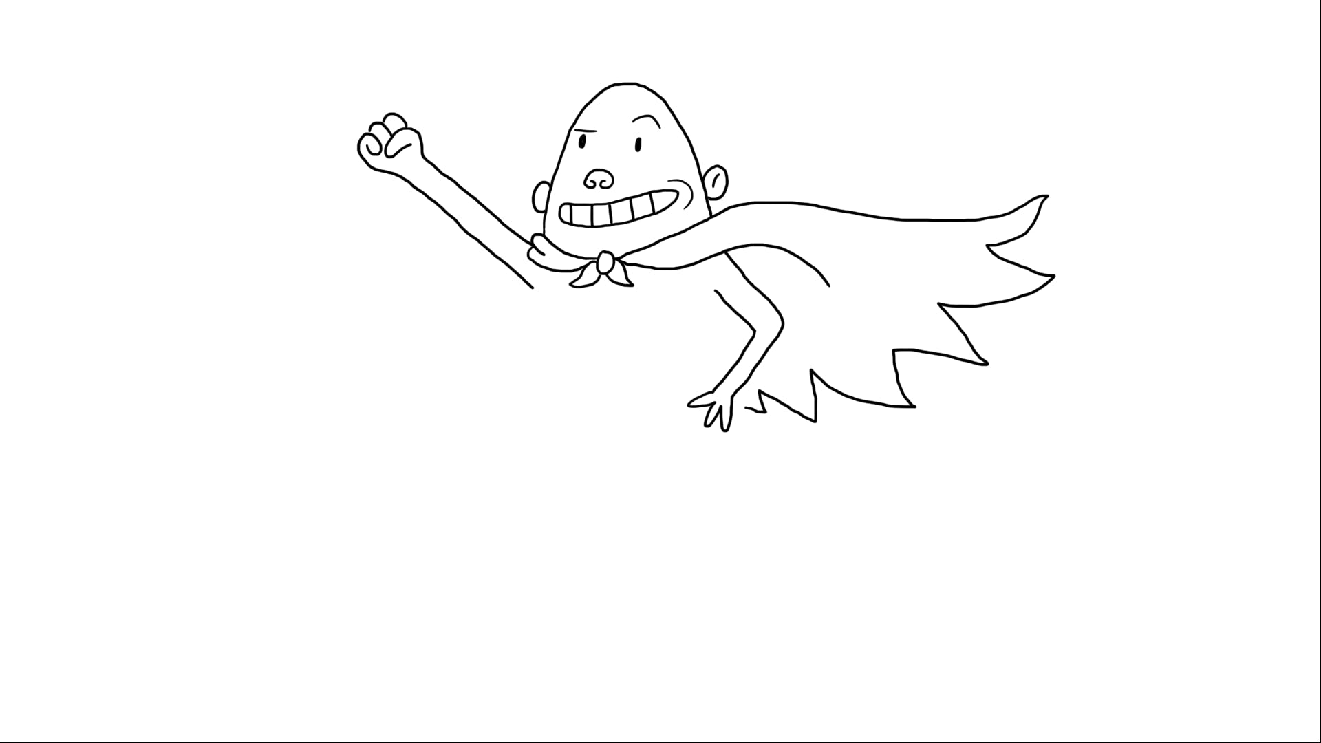 Captain Underpants's head, cape and arms