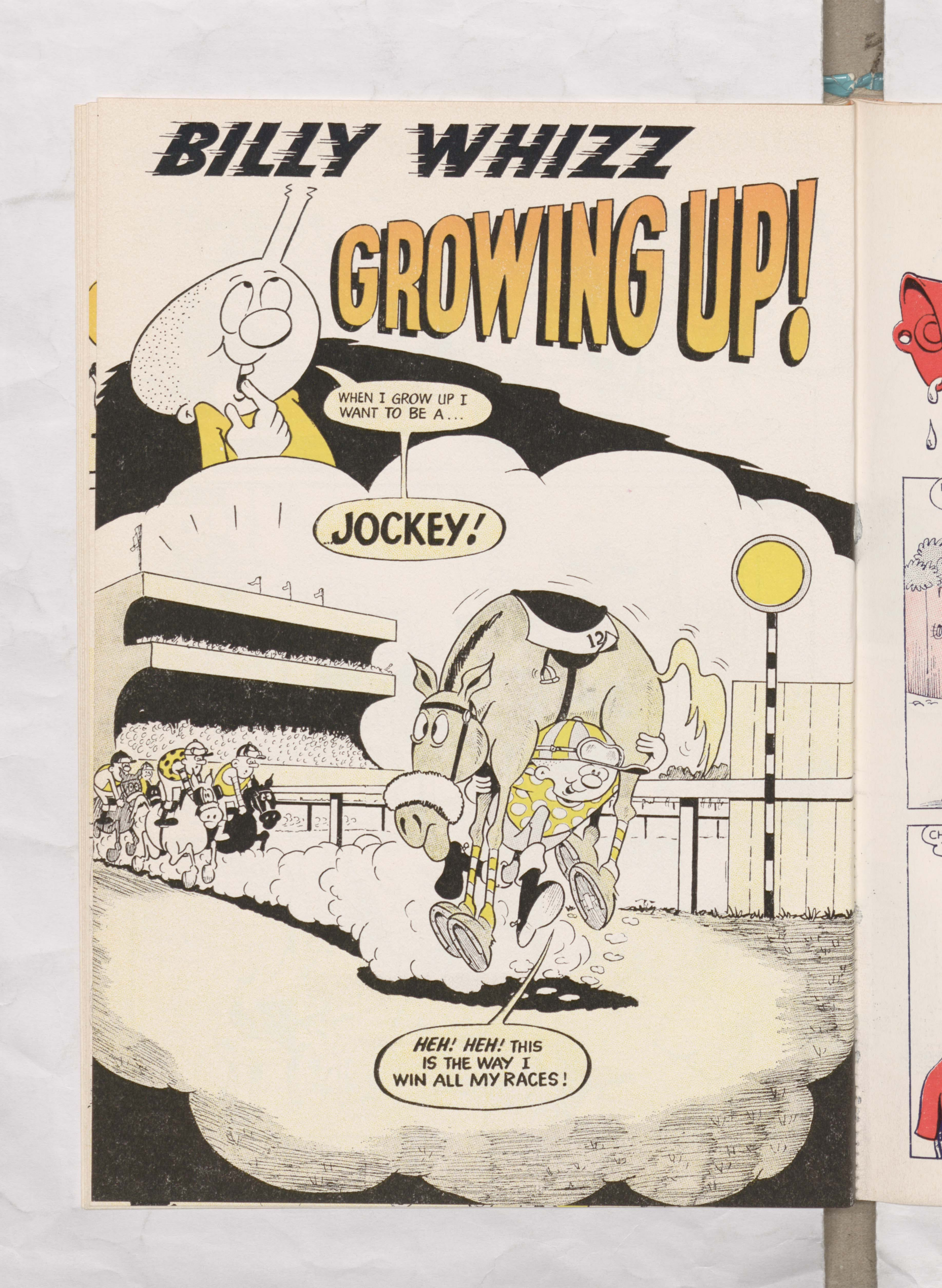 Beano Book 1976 Annual - Billy Whizz Grows Up