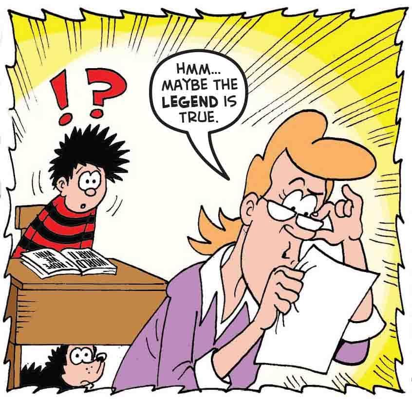 Dennis in his classroom