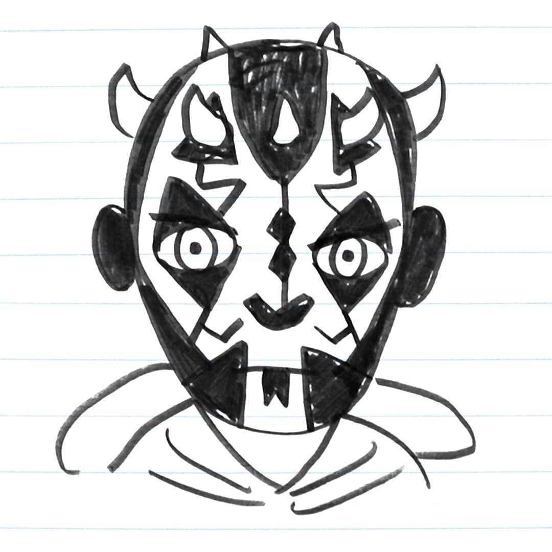 Darth Maul drawing