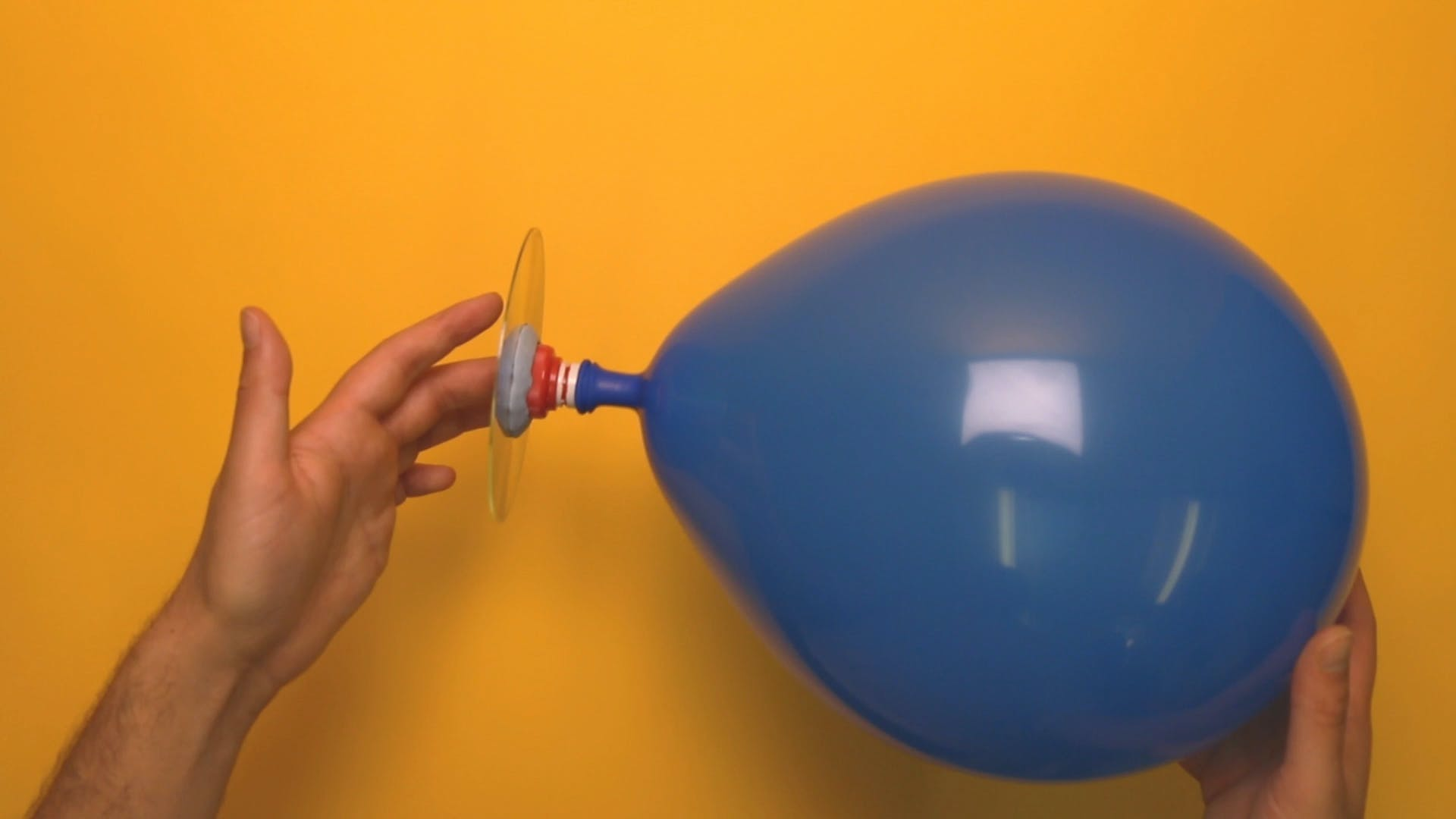 A finished balloon hovercraft