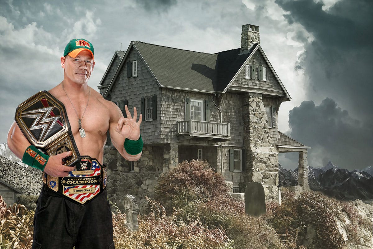 John Cena making some extra money hunting ghosts with his invisibility
