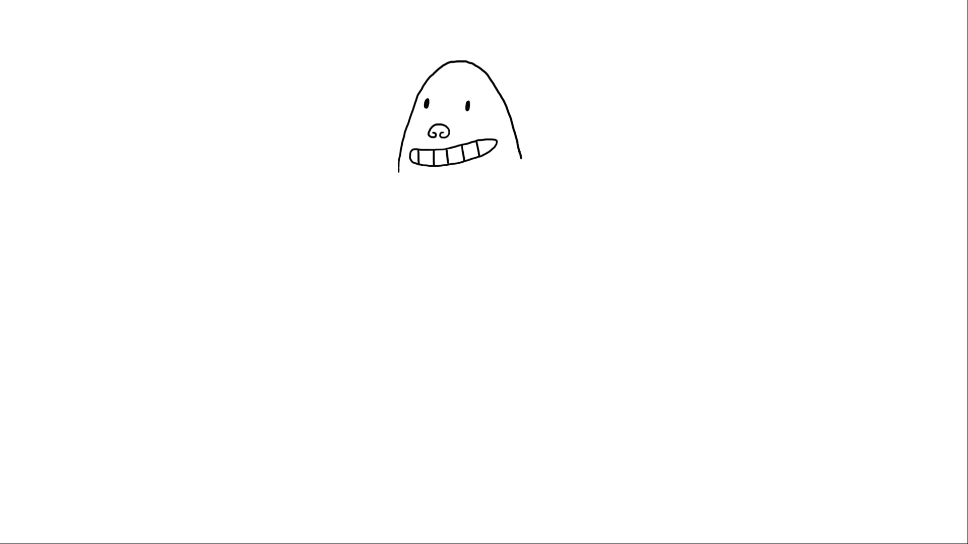 Captain Underpants's head with added mouth