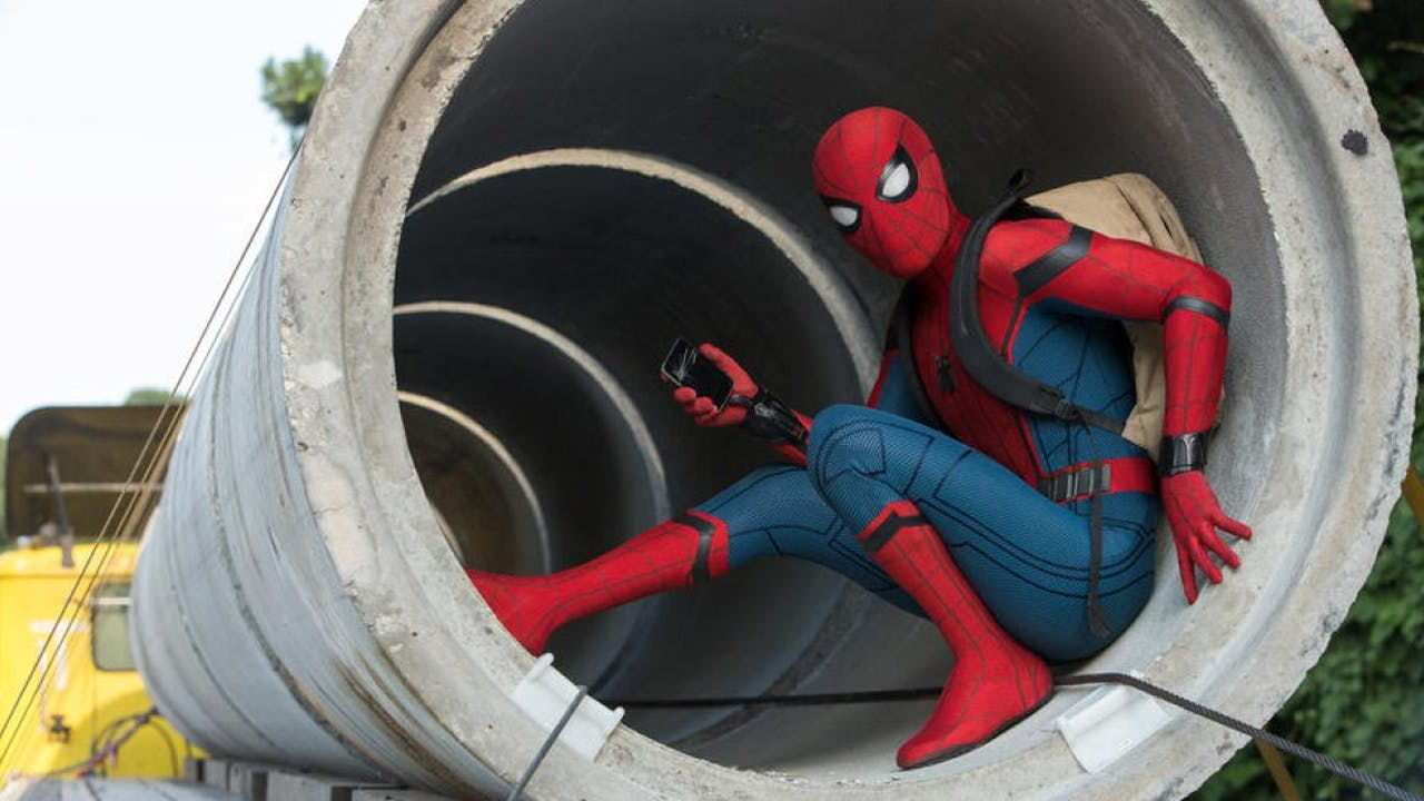 Spiderman in a pipe