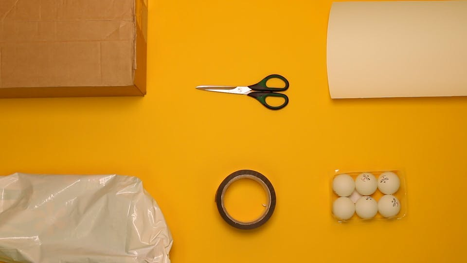 You will need - box, scissors, card, bag, tape, ammo