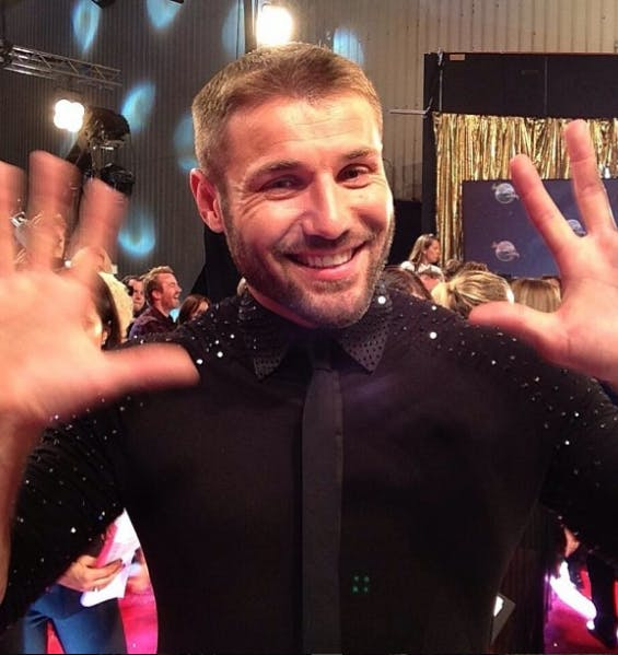 Ben Cohen doing a jazz hands