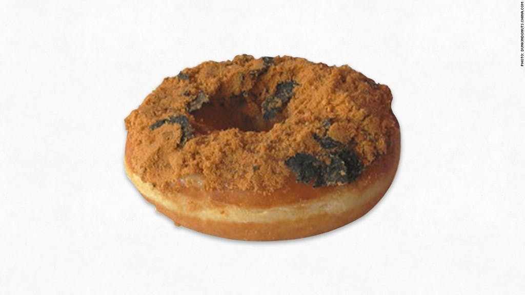 Dried pork and seaweed donut