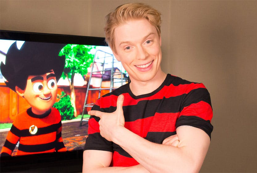Freddie Fox is the voice of Dennis in Dennis and Gnasher: Unleashed
