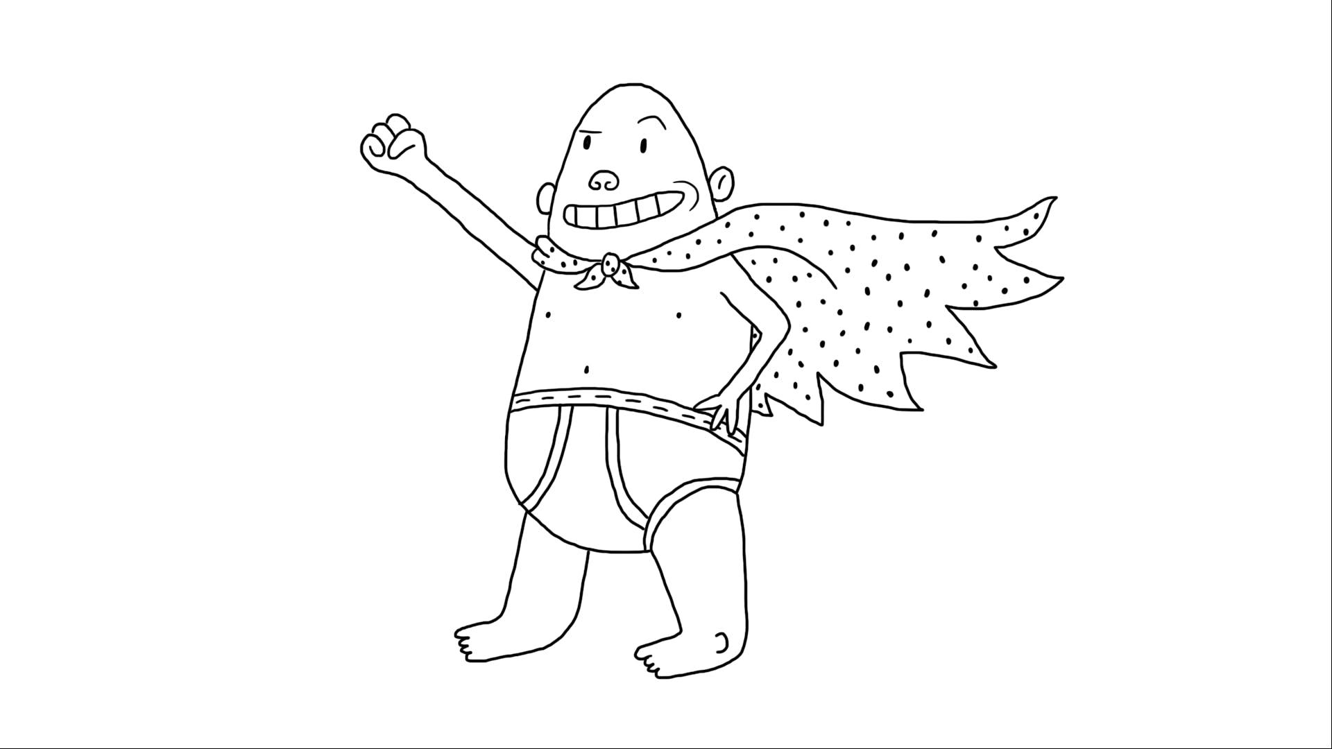 Captain Underpants line artwork