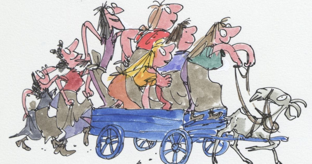 Quentin Blake's draws some pals