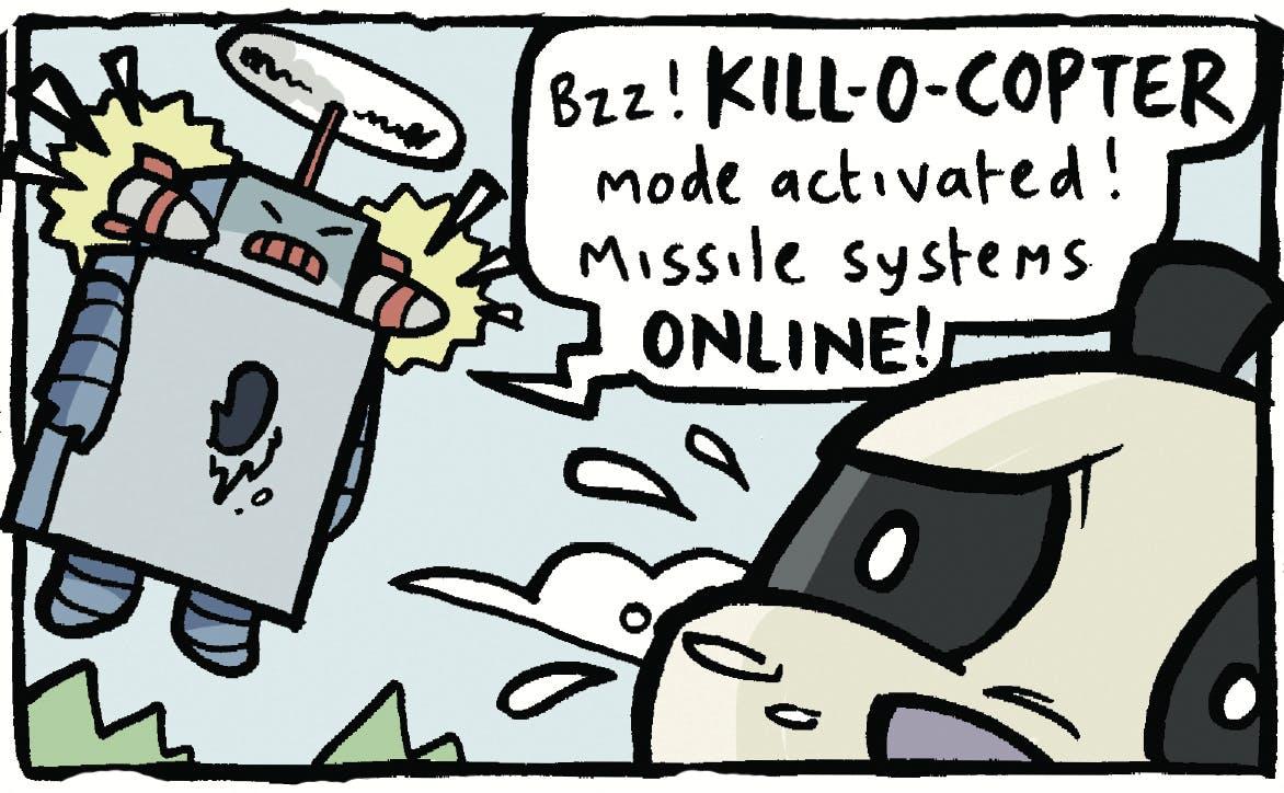 Arena of Awesome - Kill-O-Bot VS Giant Panda, Beano , Jamie Smart