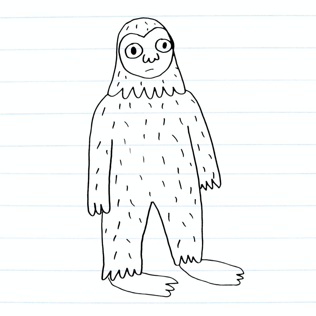 Yeti drawing