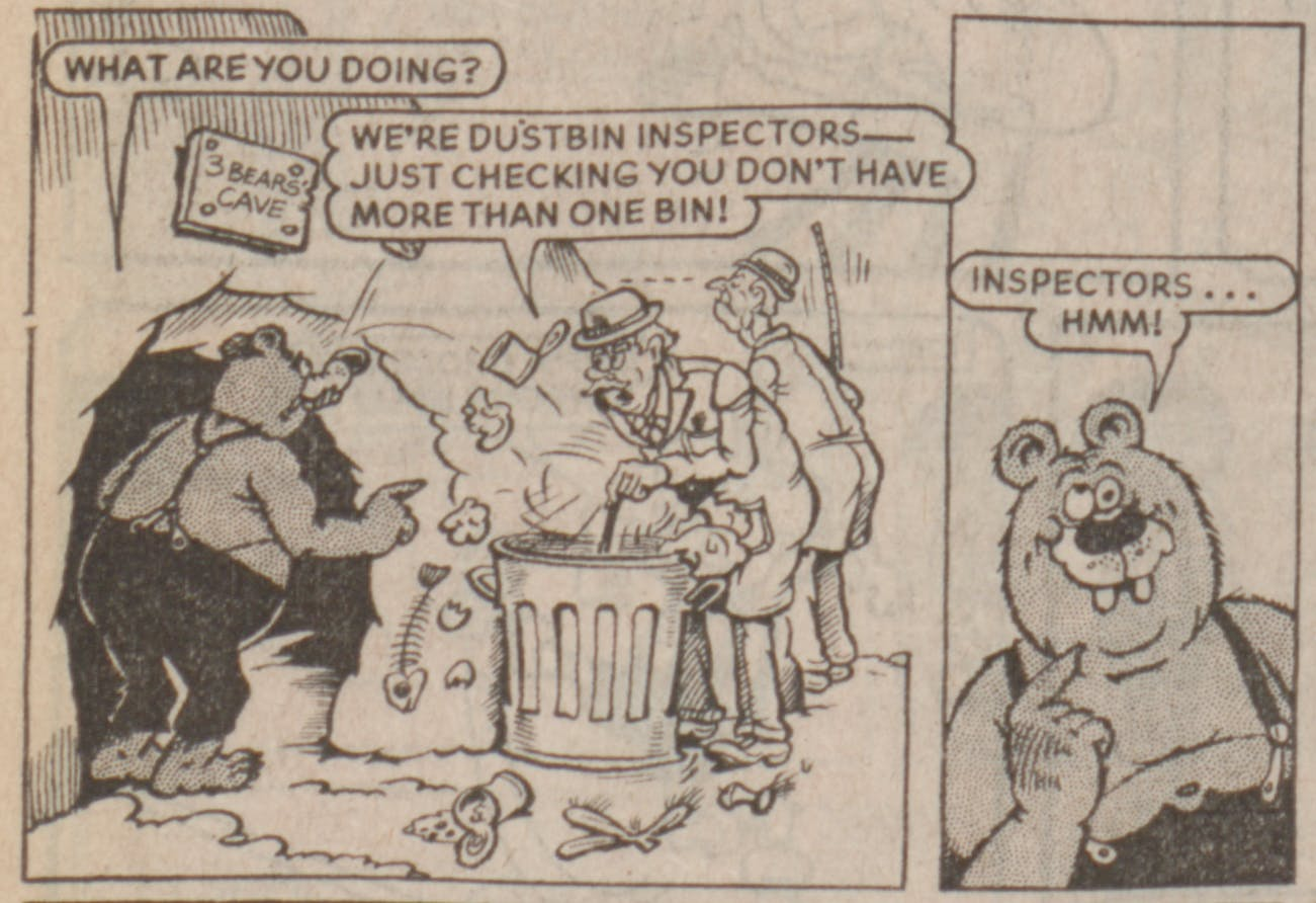 The Three Bears from Beano 2253, dated 21/9/1985