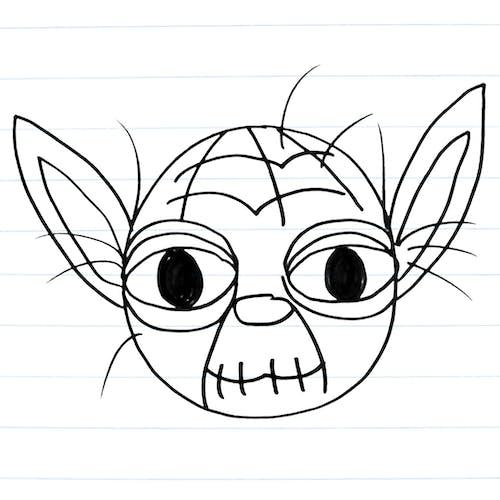 how to draw yoda easy