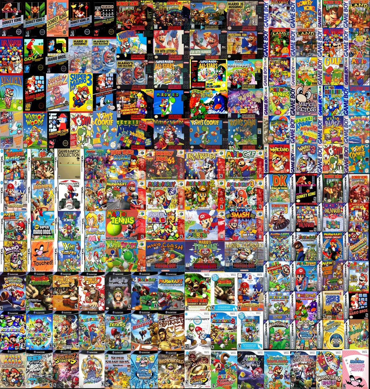 Loads and loads of Mario games