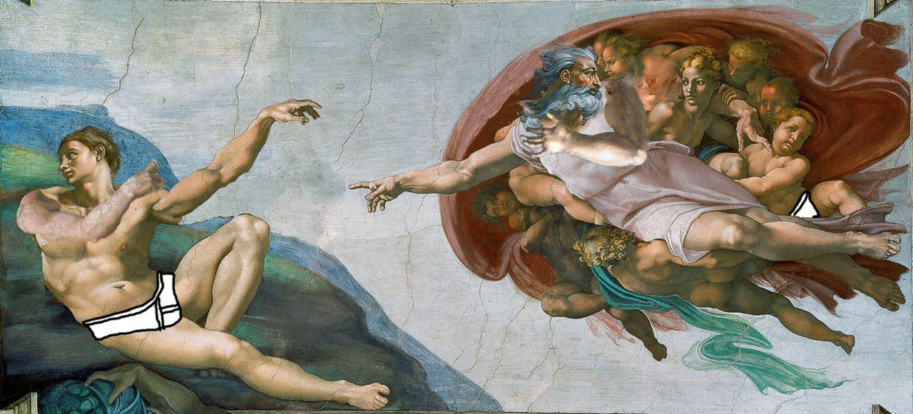 The Creation Of Adam, with dabbing