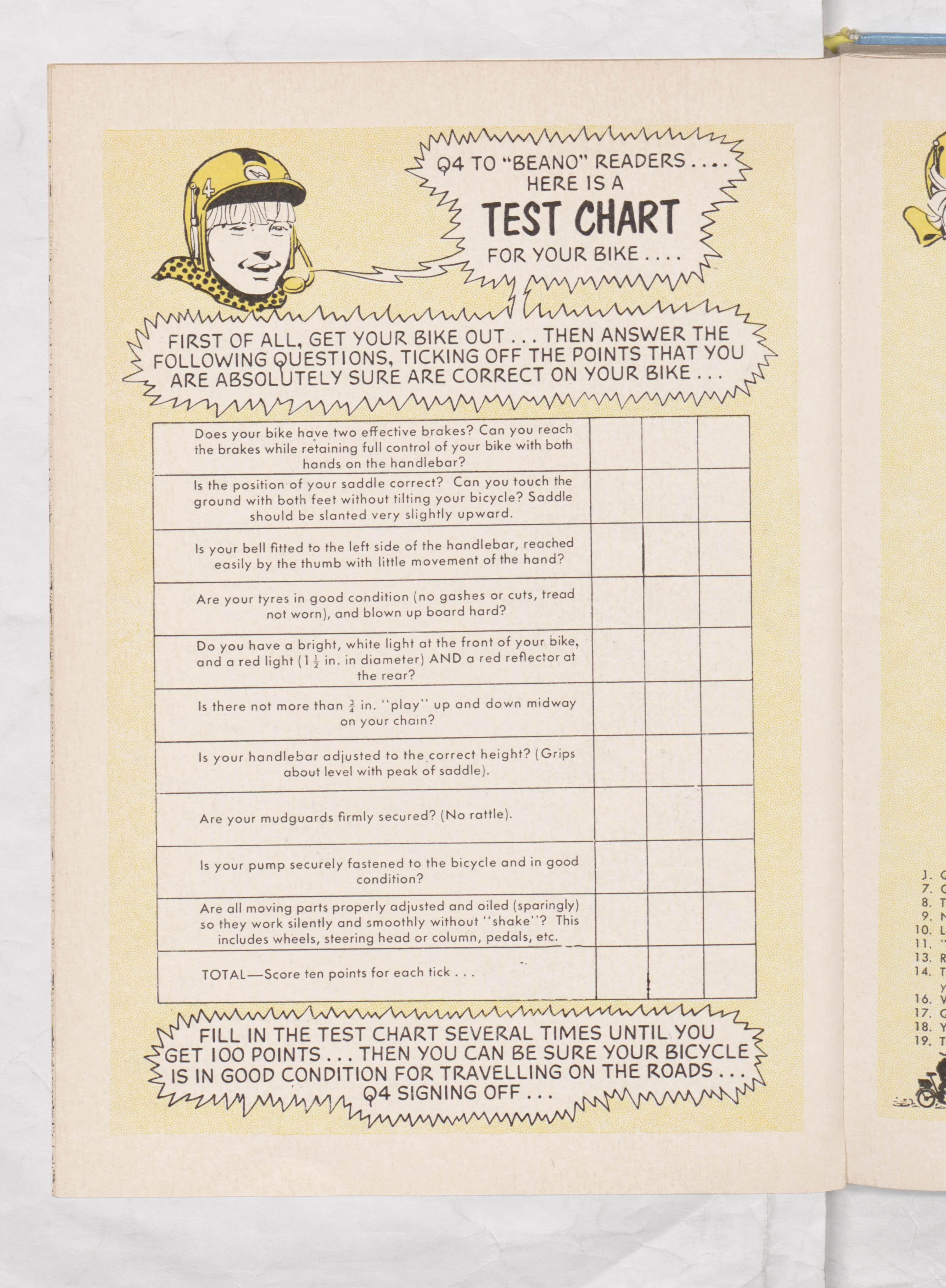 Beano Book 1970 - Q-Bikes - Page 14 checklist